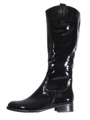 Gabor dámske lakované čižmy - čierne