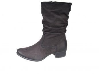 Tamaris dámske kožené nízke čižmy - čierne