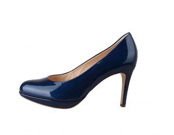 Högl dámske lodičky na vyššom opätku - modré