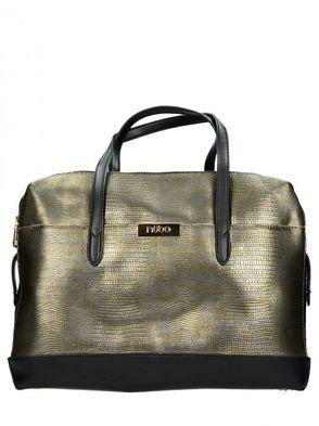 Nóbo dámska kabelka - čiernozlatá