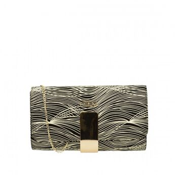 Nóbo dámska spoločenská kabelka - čiernozlatá
