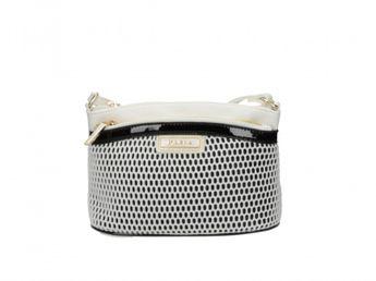 Pabia dámska štýlová kabelka - čiernobiela