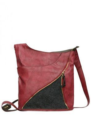 Rieker dámska kabelka - bordová
