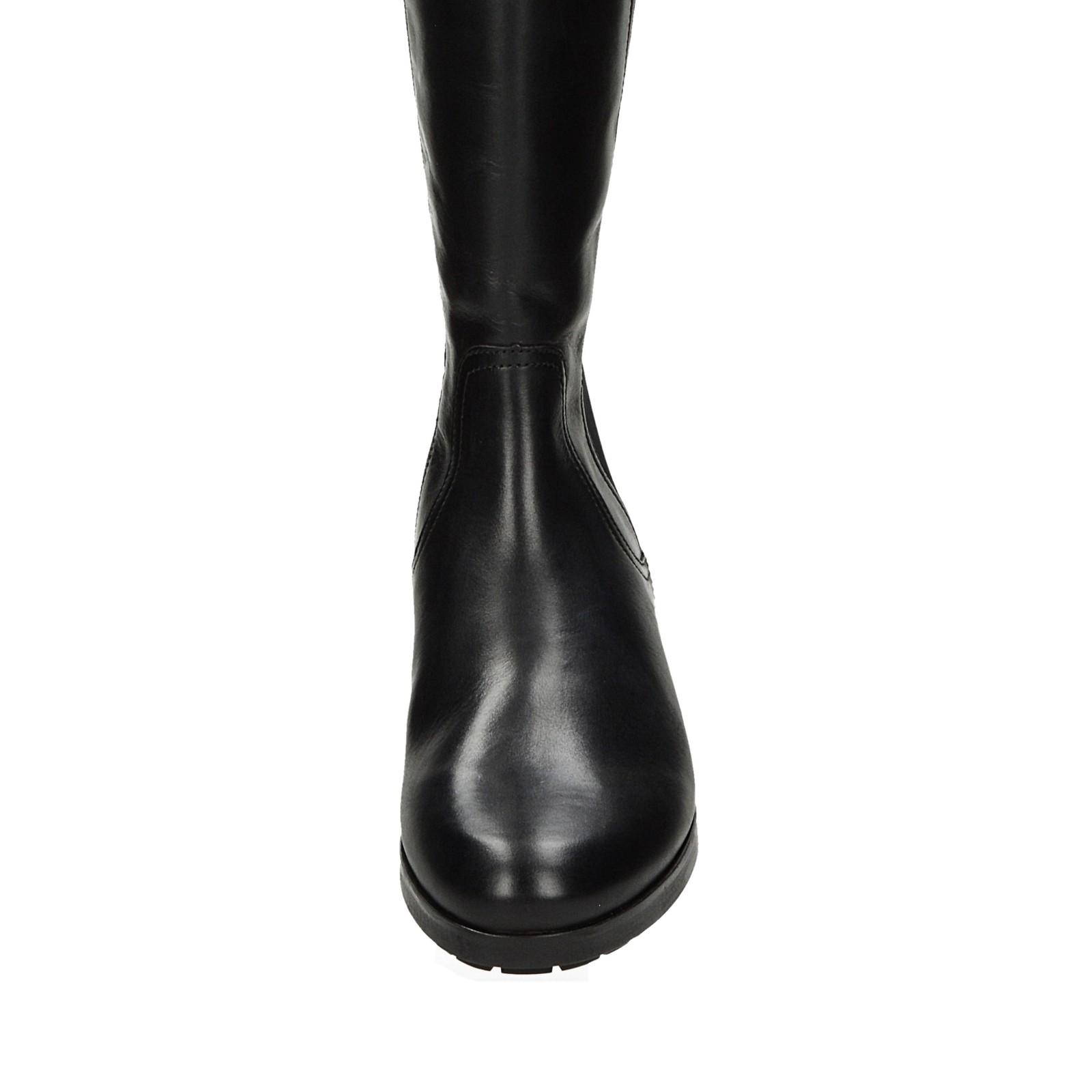 Högl dámske pohodlné vysoké čižmy - čierne