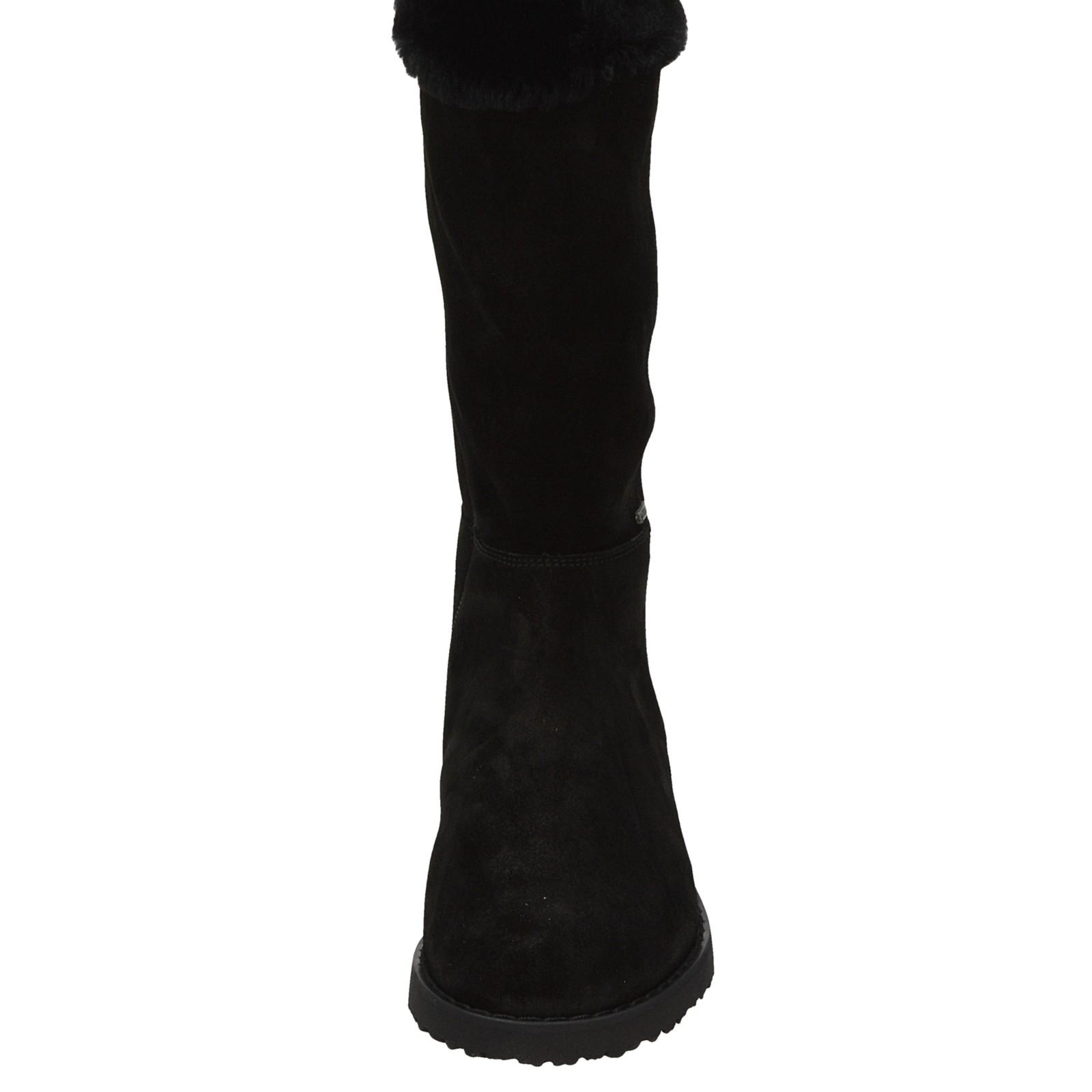 6004f820a8 Högl dámske semišové zateplené vysoké čižmy - čierne ...