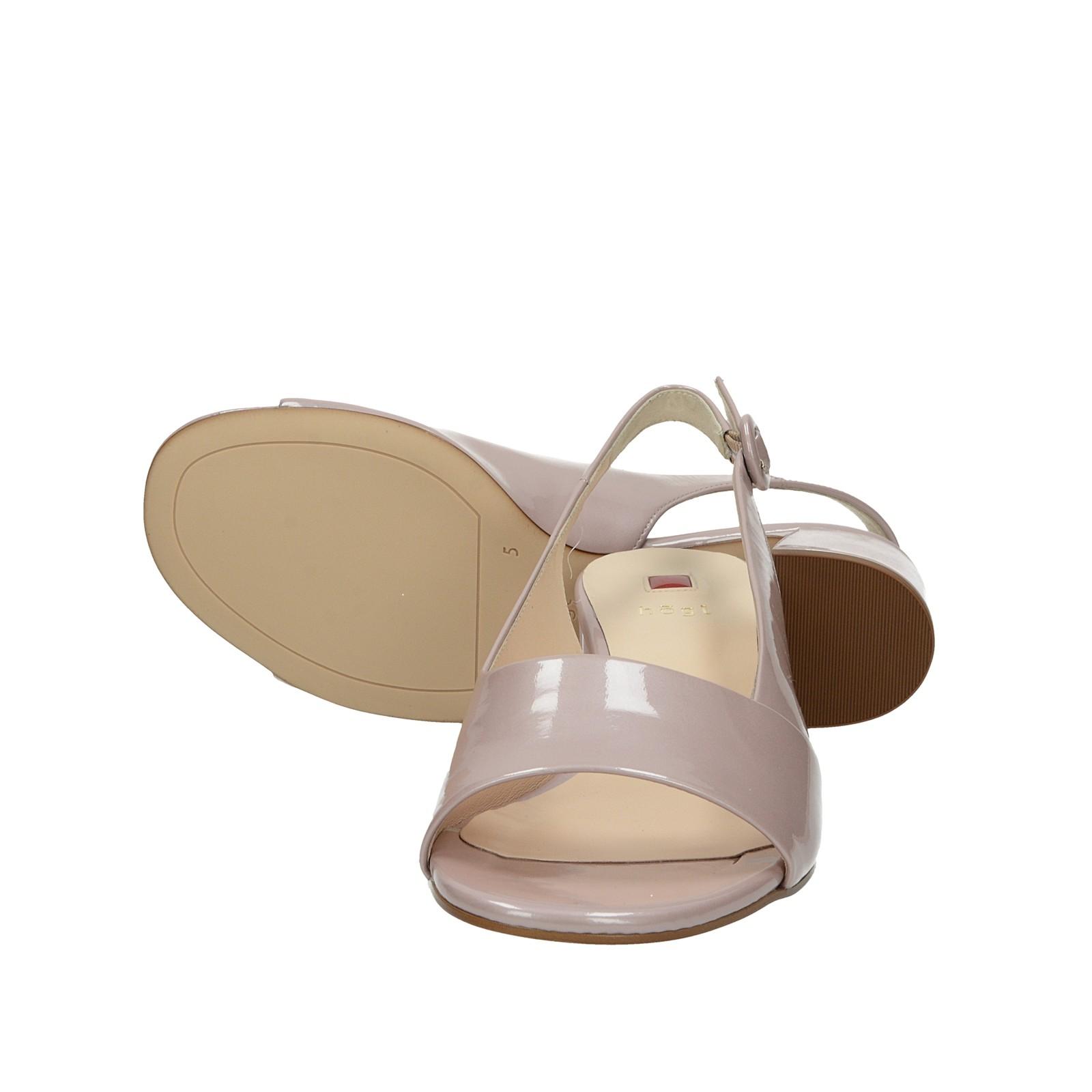 Högl dámske lakované kožené sandále - ružové