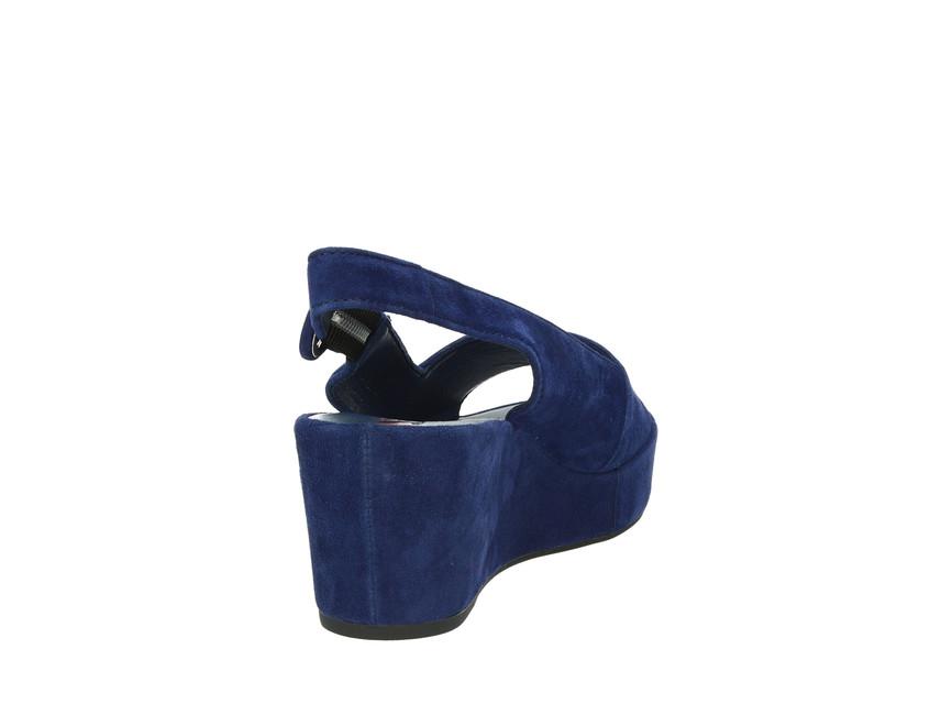 0334478e02 ... Högl dámske sandále - modré ...