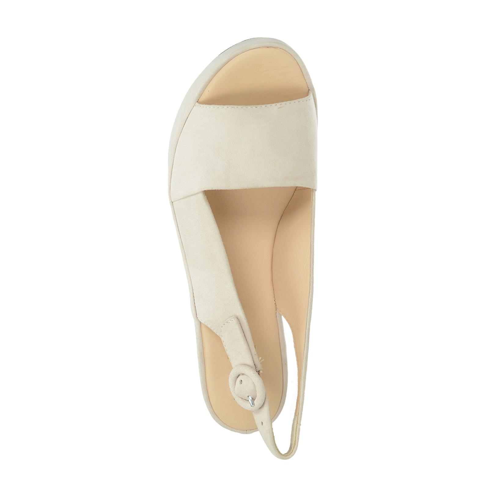 Högl dámske semišové sandále na klinovej podrážke - ružové