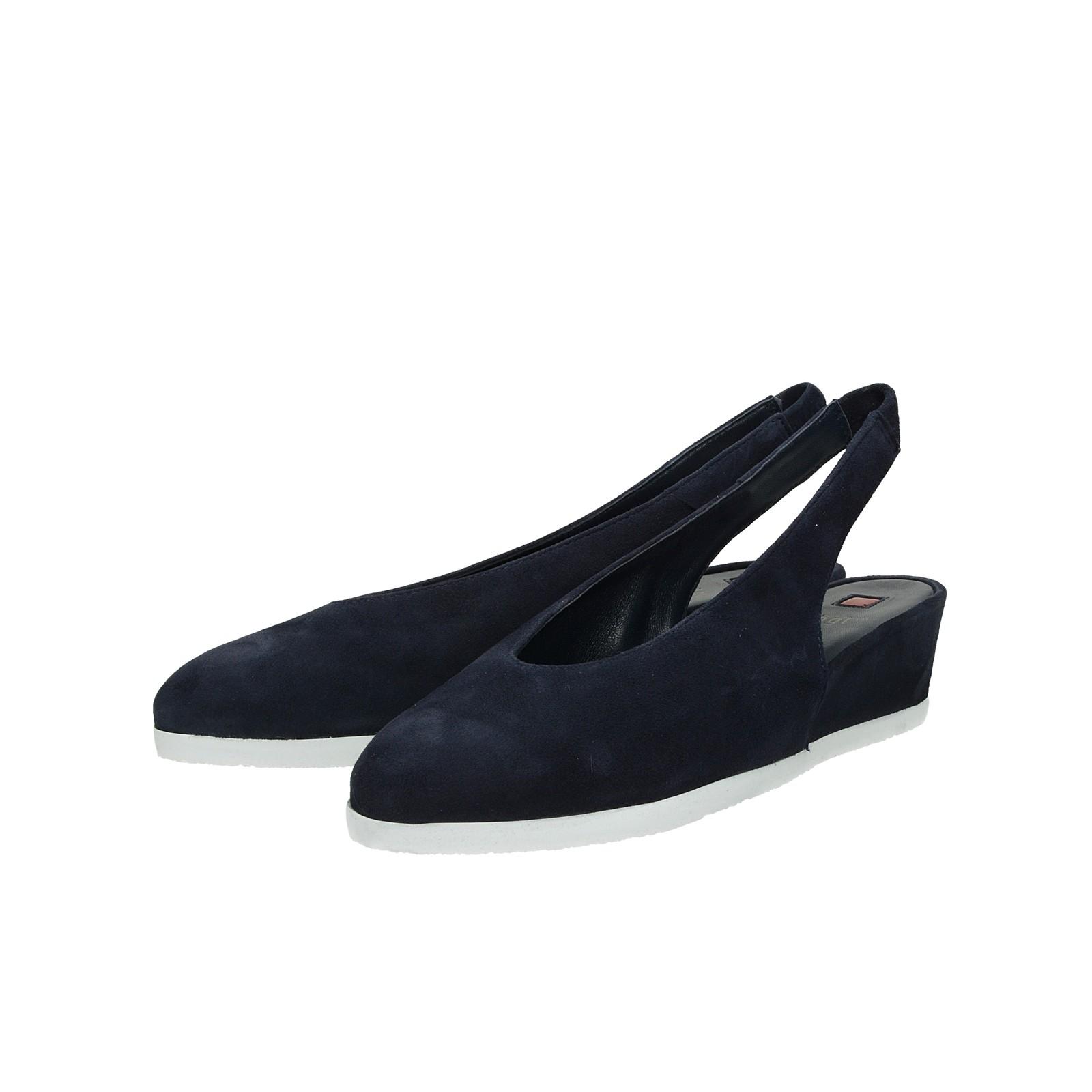 deae71d161 ... Högl dámske semišové sandále - tmavomodré ...