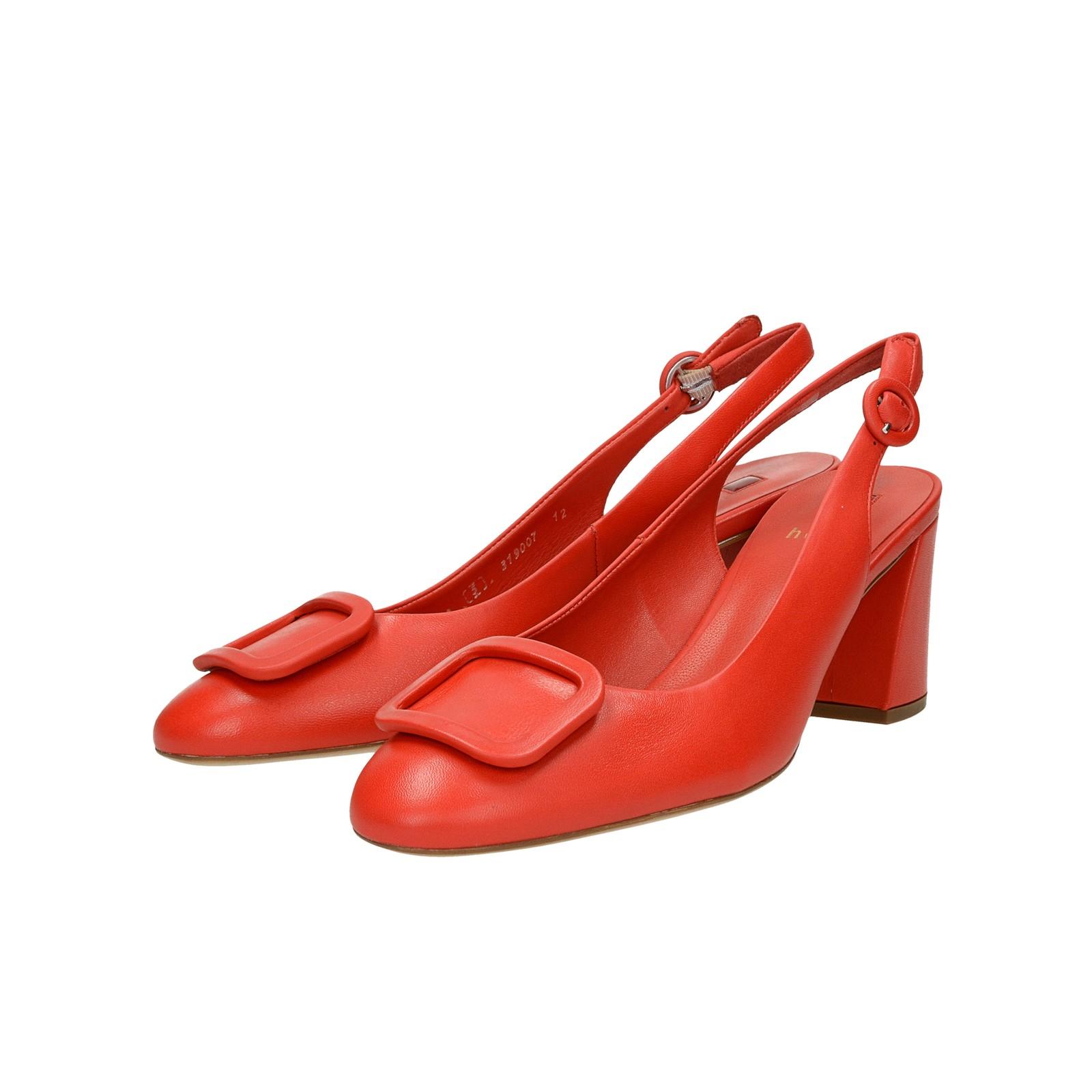 ... Högl dámske kožené štýlové sandále - červené ... 01ade50596a