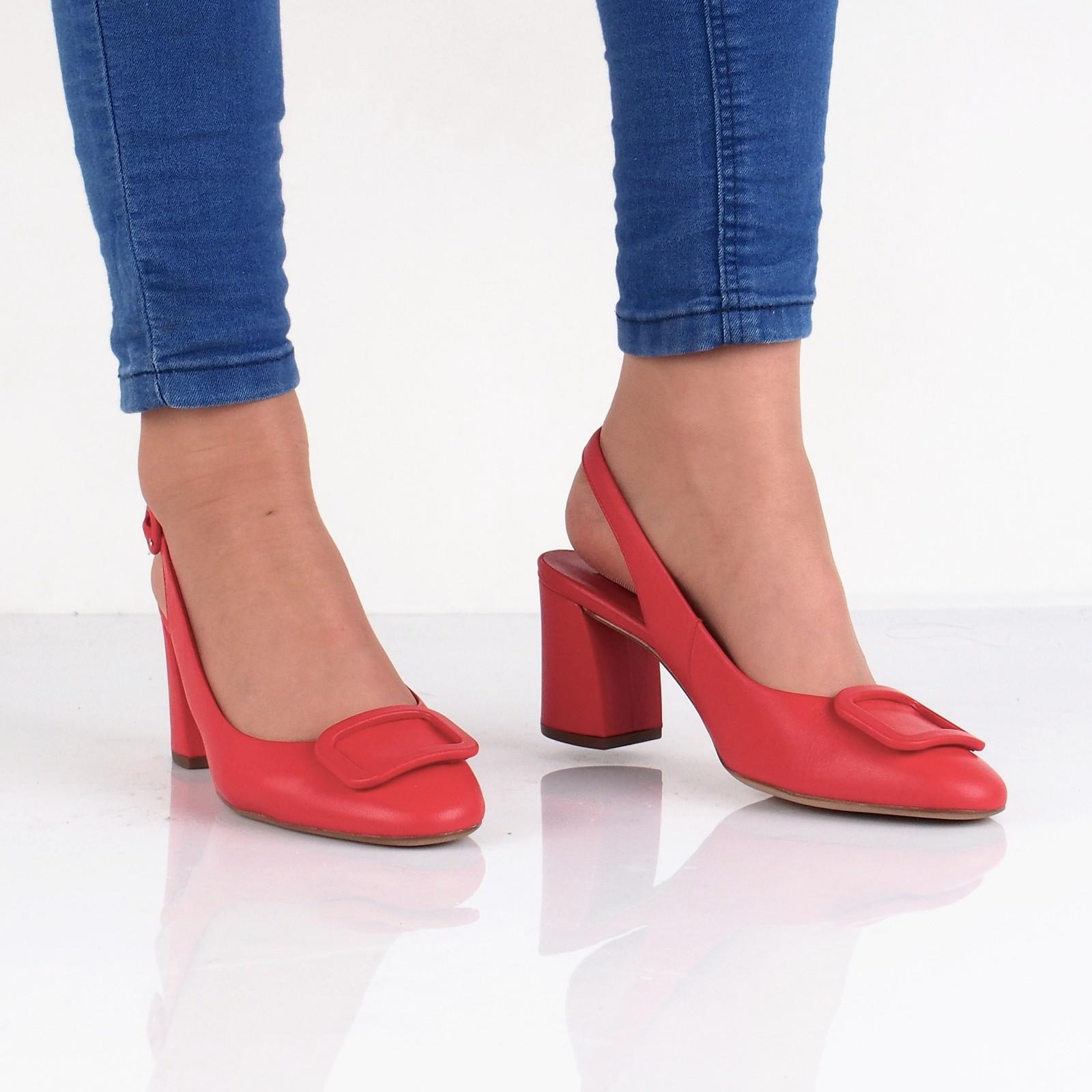 ba385fce025b Högl dámske kožené štýlové sandále - červené ...