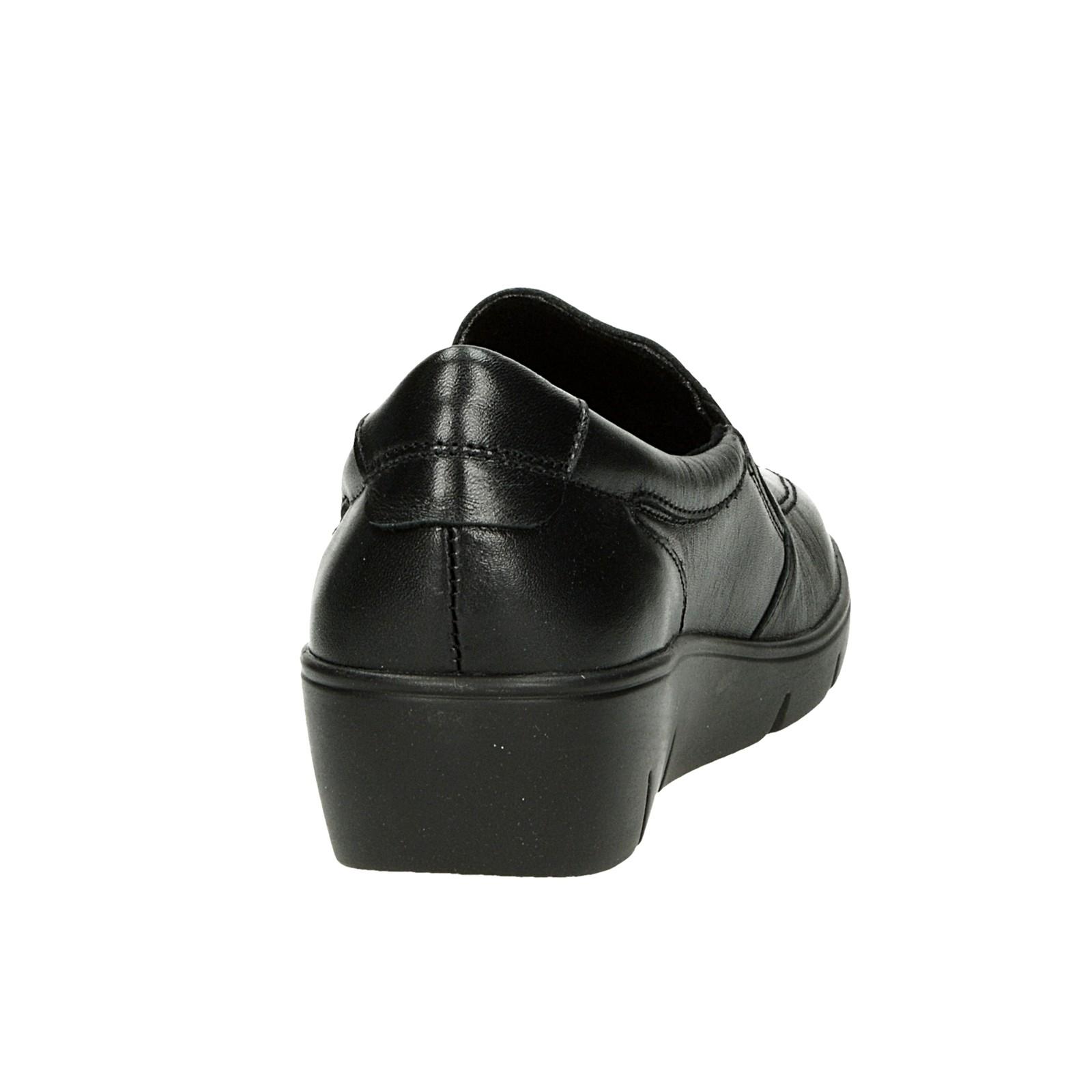 Robel dámske kožené zateplené poltopánky - čierne