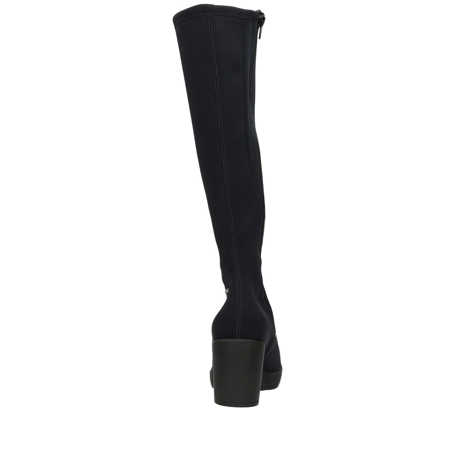 Högl dámske textilné vysoké čižmy - čierne