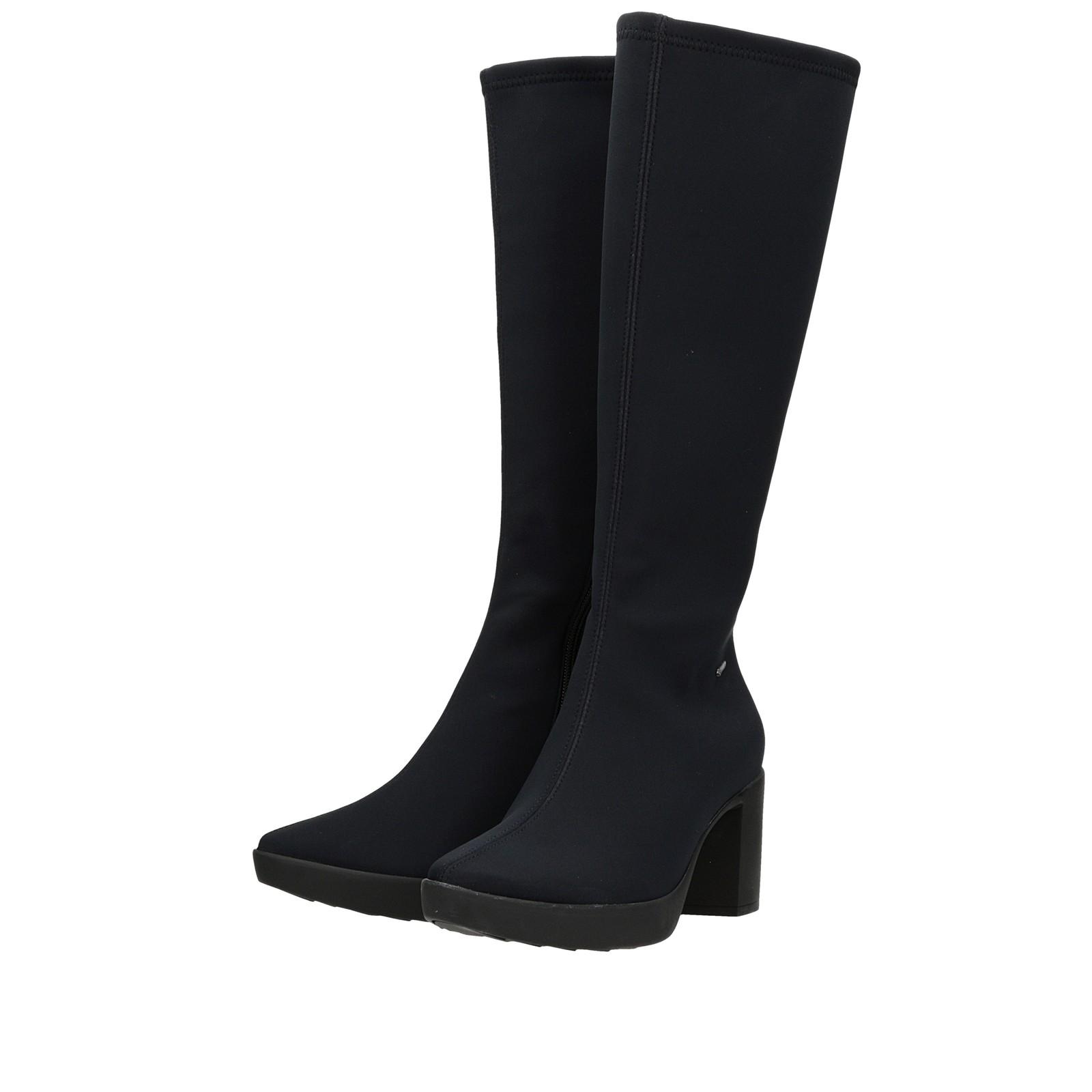 35969ad5f5 ... Högl dámske textilné vysoké čižmy - čierne ...