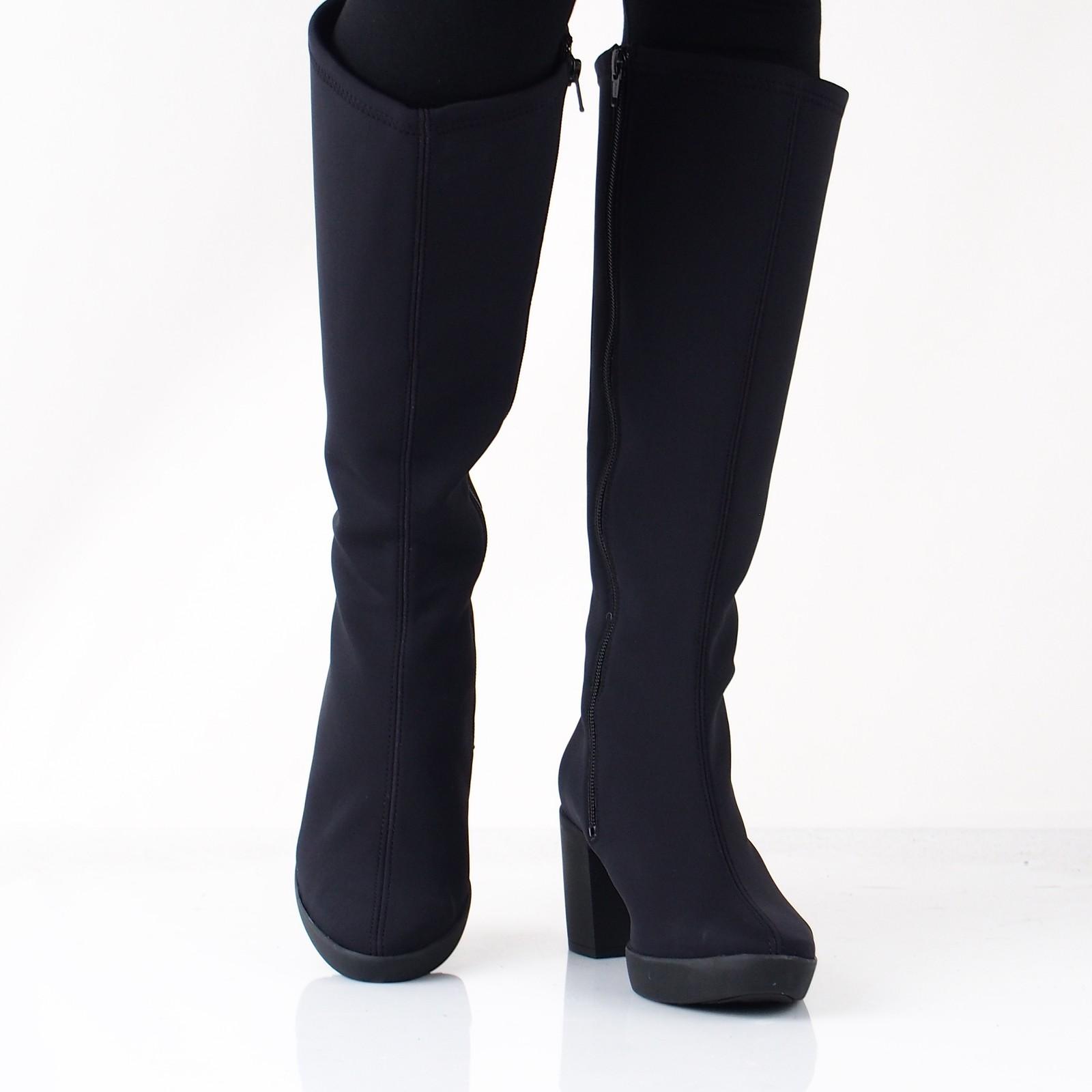 8fbdaf7c84 Högl dámske textilné vysoké čižmy - čierne ...