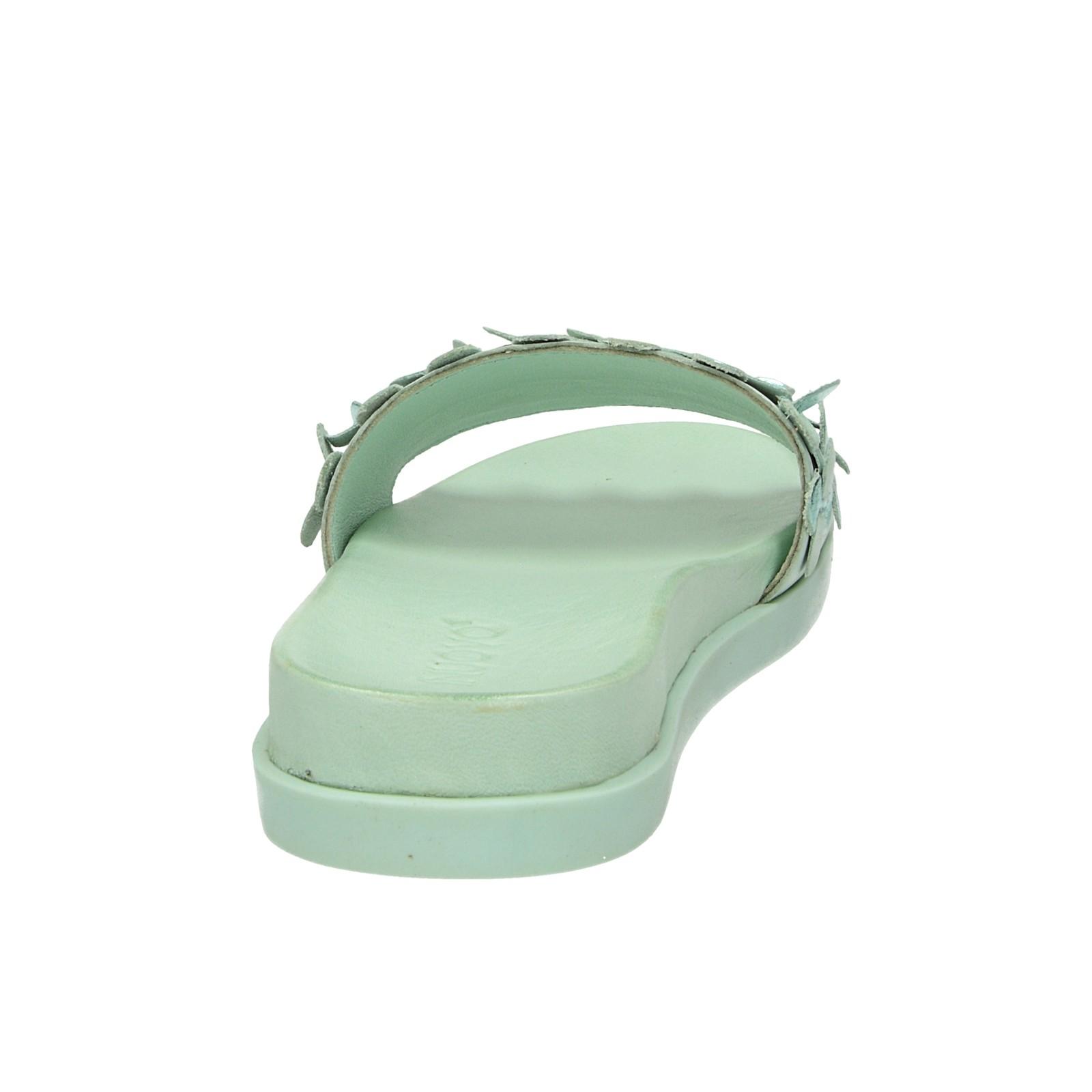 Inuovo dámske kožené šľapky - zelené