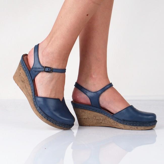 041eefa39388e Robel dámske kožené sandále - modré | 1102189-OCEAN www.robel.sk