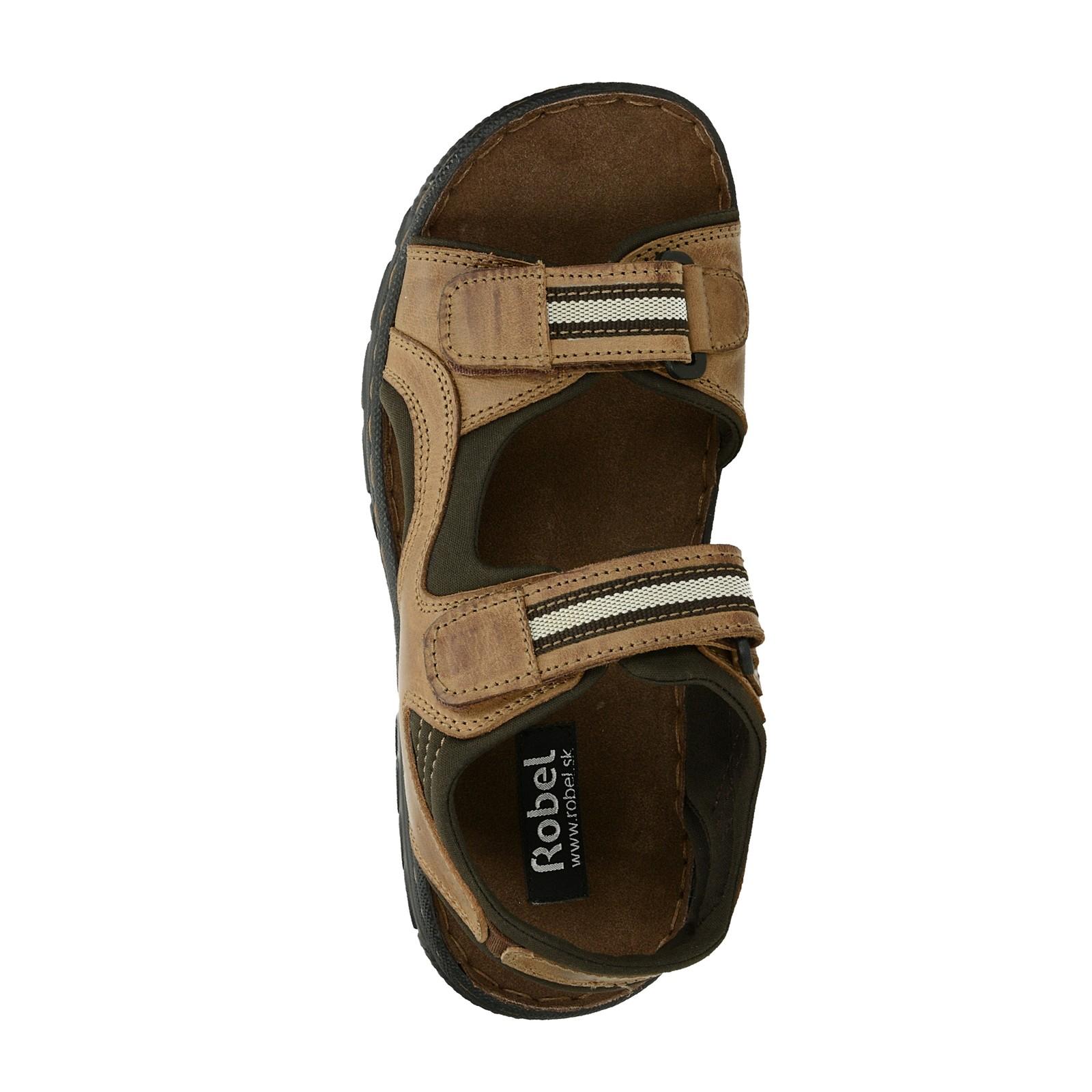 Robel pánske kožené sandále - hnedé