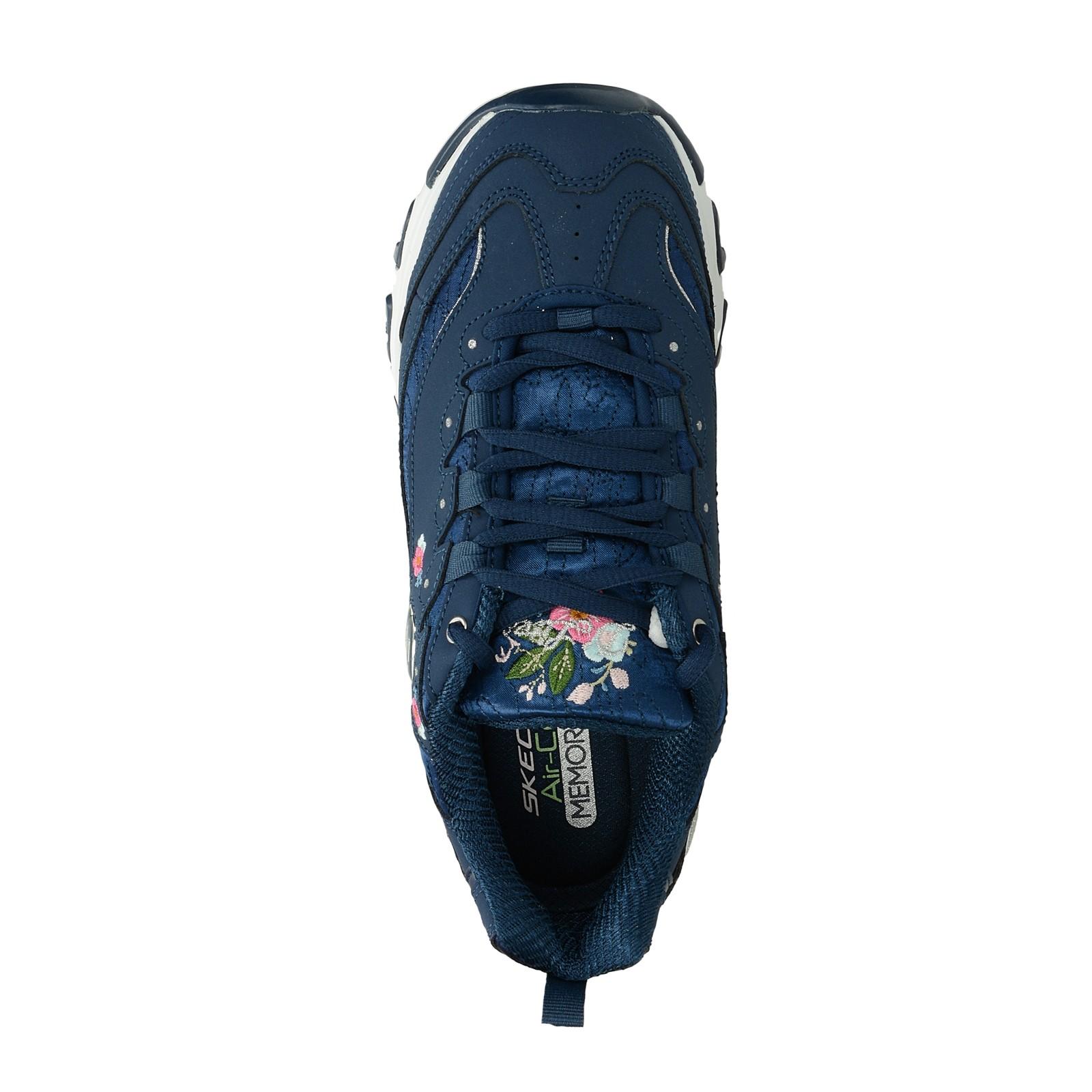Skechers dámske štýlové tenisky s kvetinkami - modré ... 142df20b8c5
