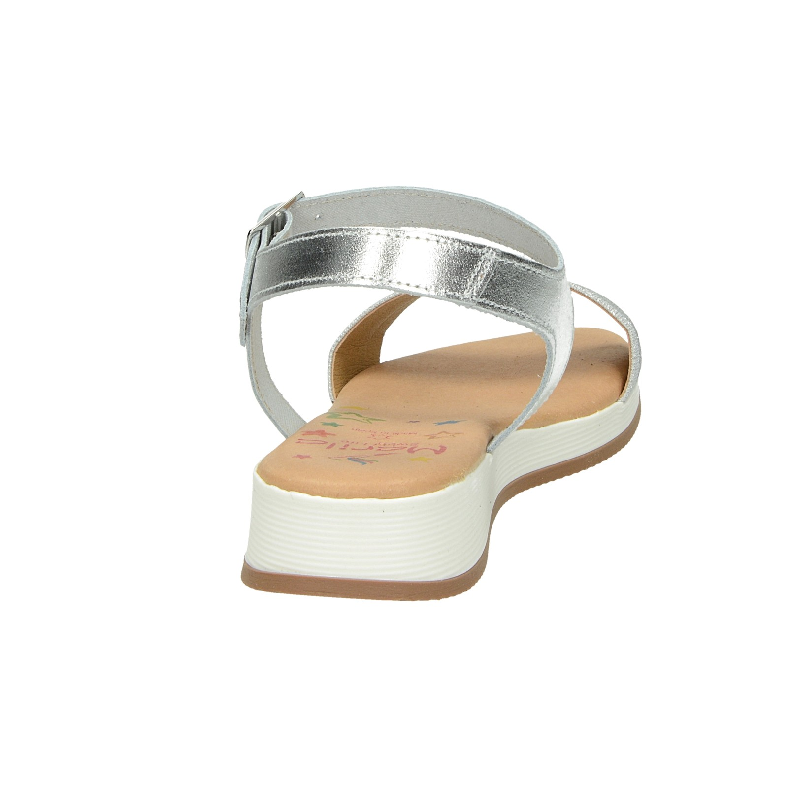 75d28f75e924 ... Marila dámske štýlové kožené sandále - strieborné ...