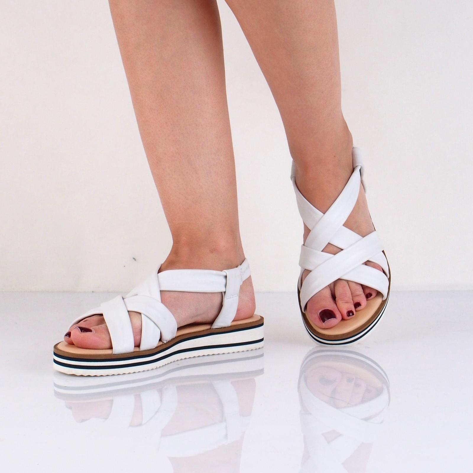 Ara dámske kožené štýlové sandále - biele