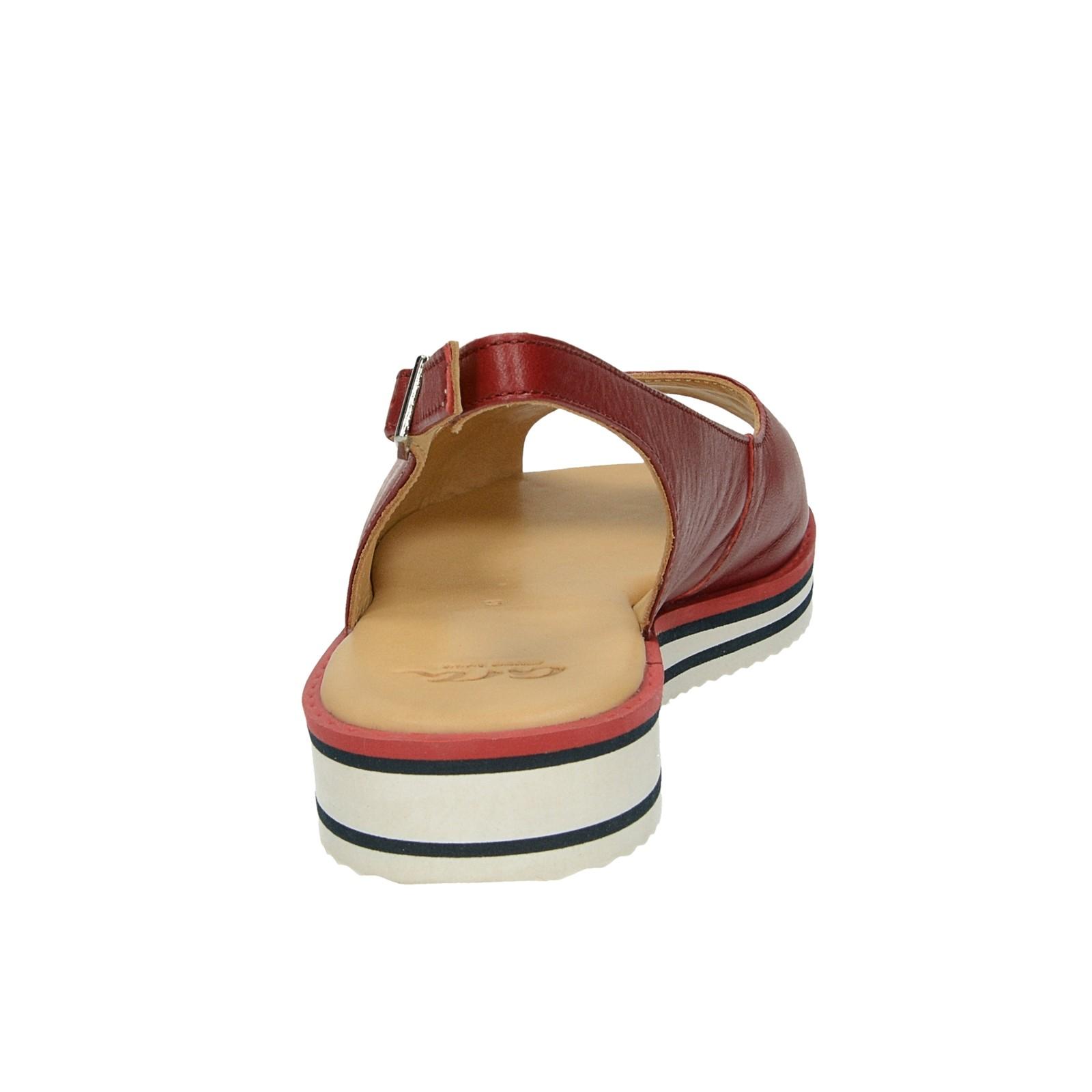 Ara dámske kožené sandále - bordové