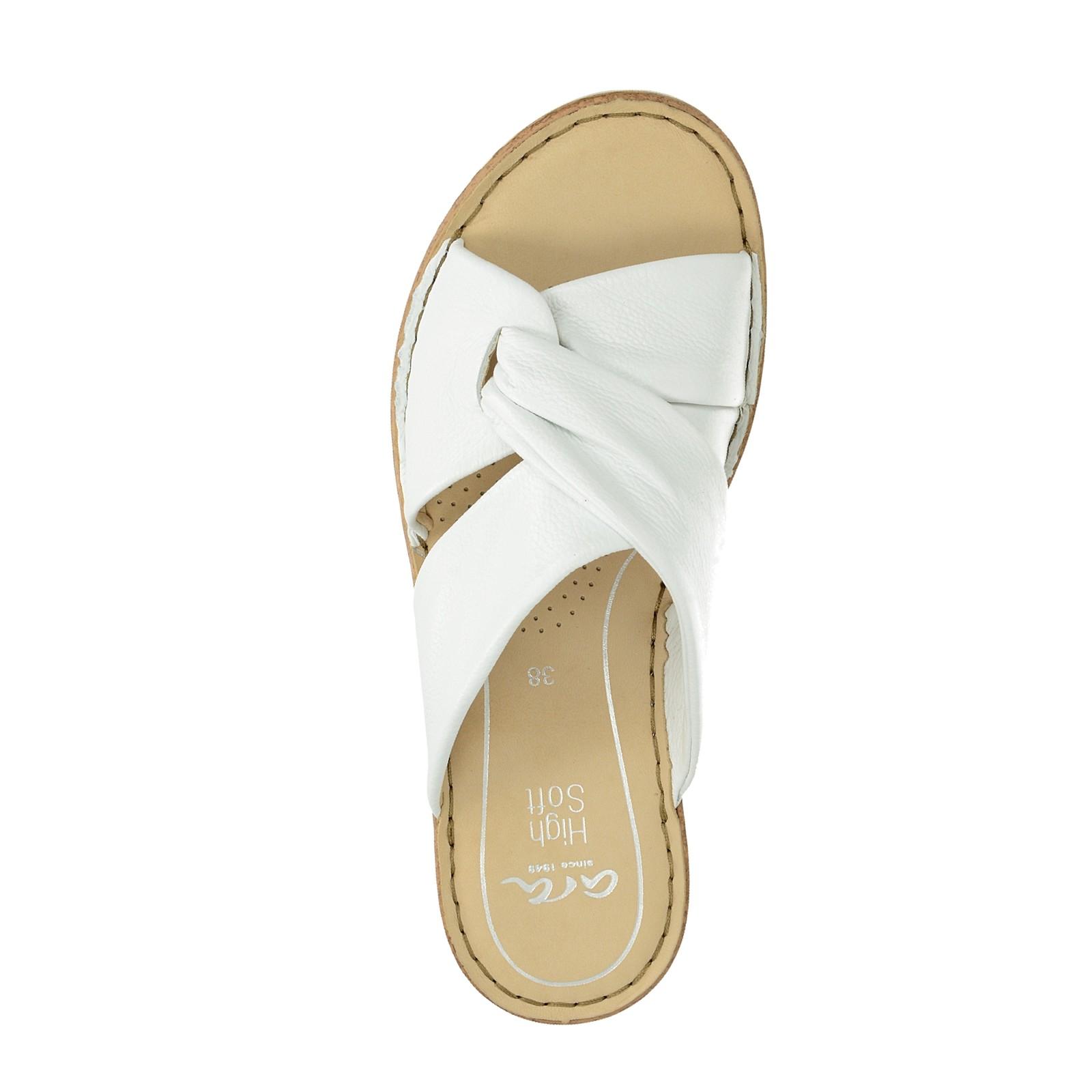 3a9520a97e703 Ara dámske kožené pohodlné šľapky - biele | 121610106-WHT www.robel.sk