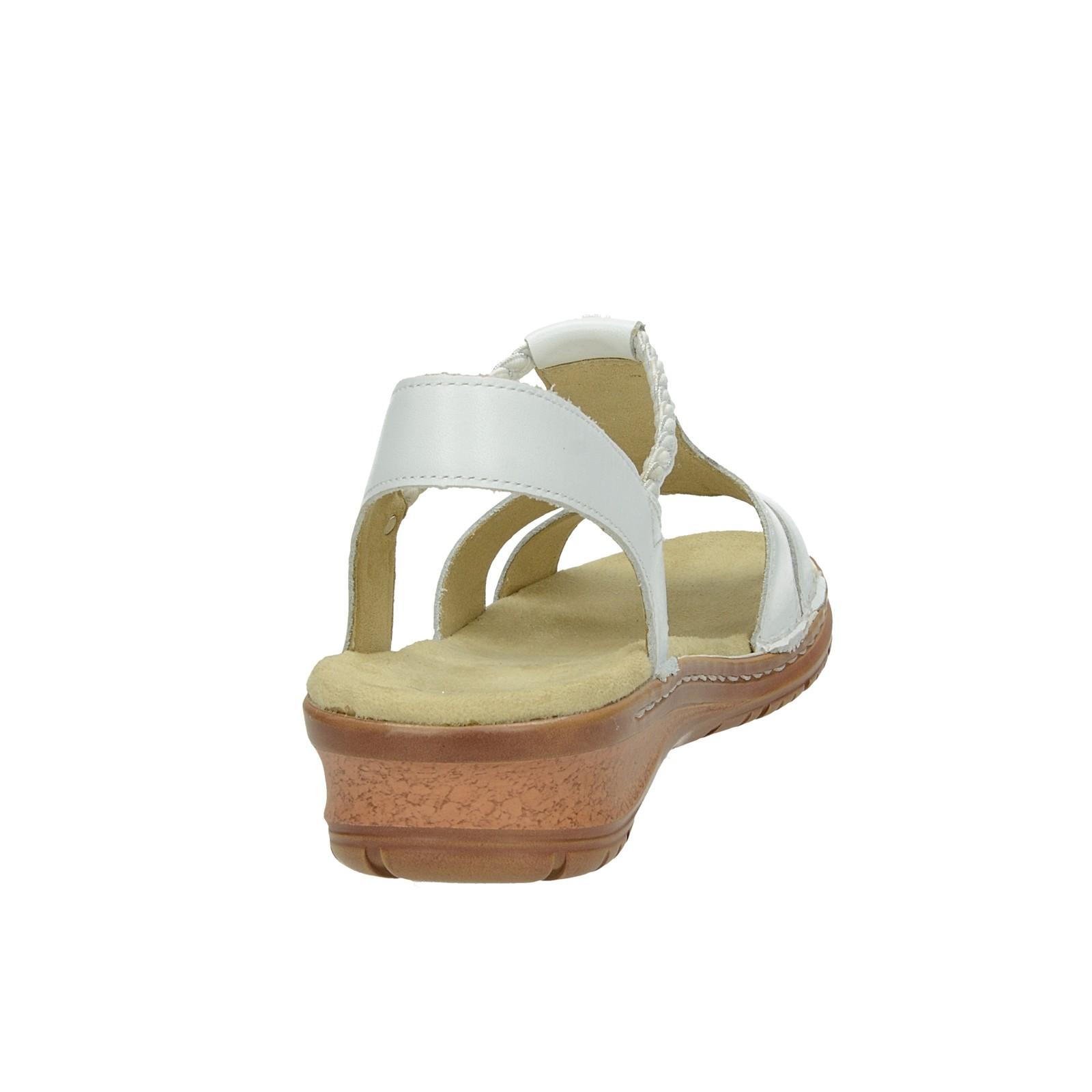 c19c2f5a0e1d ... Ara dámske kožené sandále s ozdobnými kamienkami - biele ...