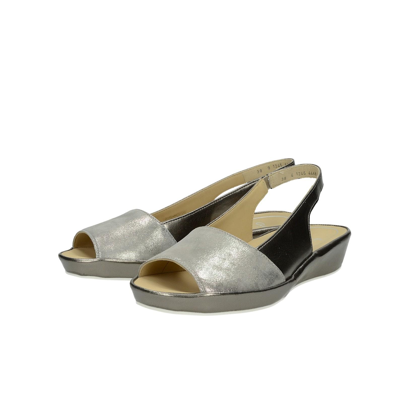ce1e3ae5cd26 Ara dámske kožené sandále - strieborné ...