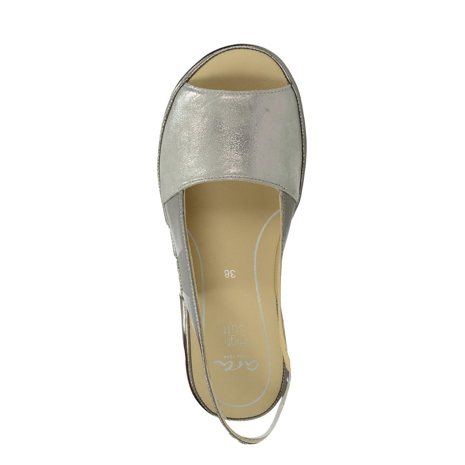 f680072ed6db9 Ara dámske kožené sandále - strieborné | 122801109-TITAN www.robel.sk