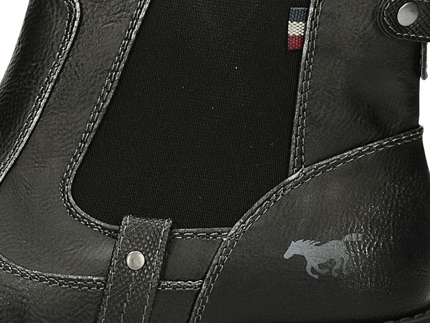Mustang dámske kotníky na hrubej podrážke - šedé