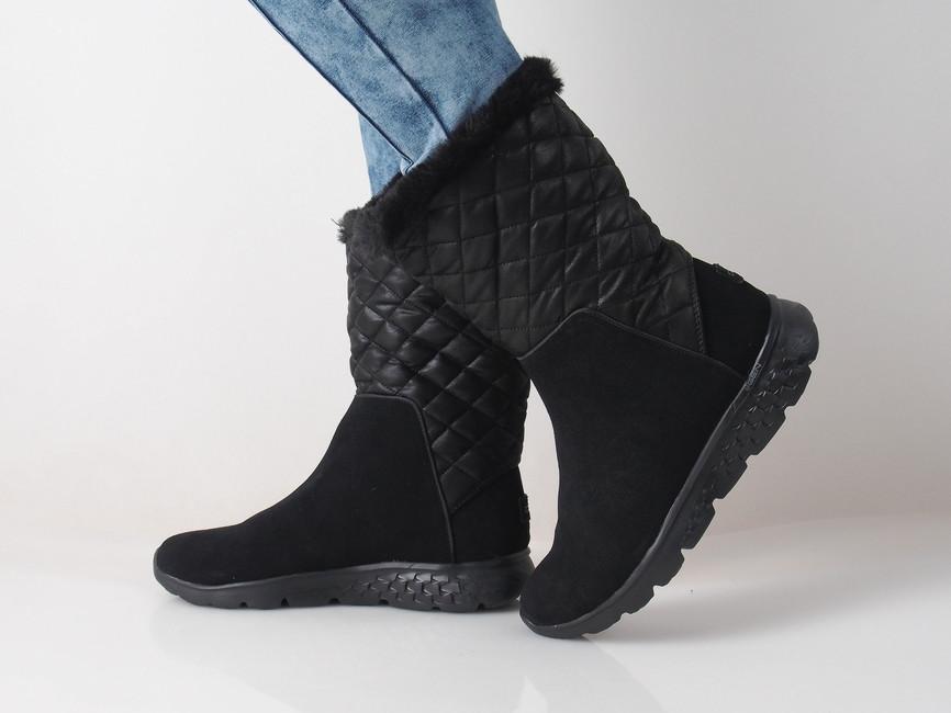 Skeches dámske zateplené štýlové čižmy - čierne ... b3d090de3a0