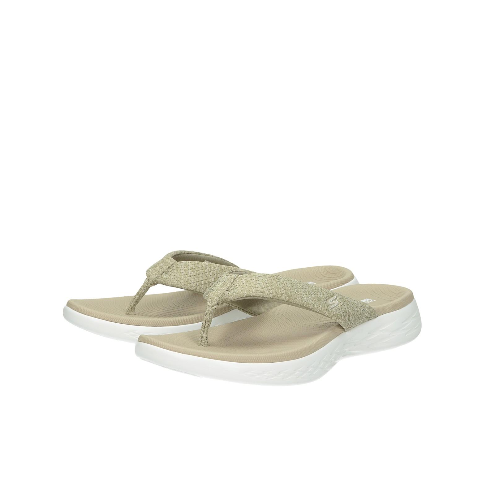 Skechers dámske pohodlné plážovky - béžové
