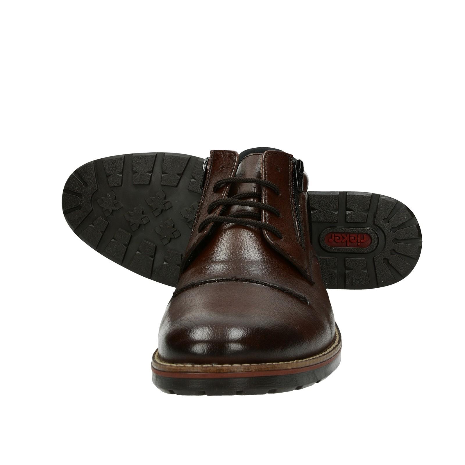 1d77fe00dcfe ... Rieker pánska kožená členková obuv - tmavohnedá ...