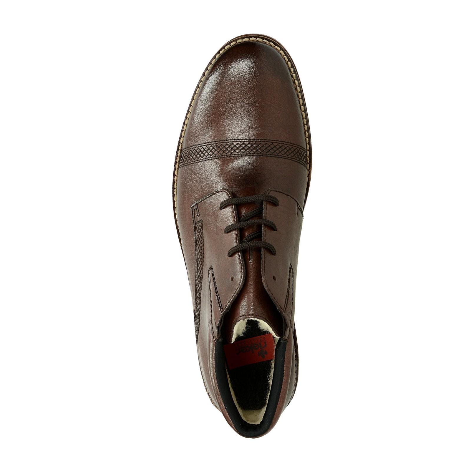 76f967a2c933 Rieker pánska kožená zateplená členková obuv - tmavohnedá ...