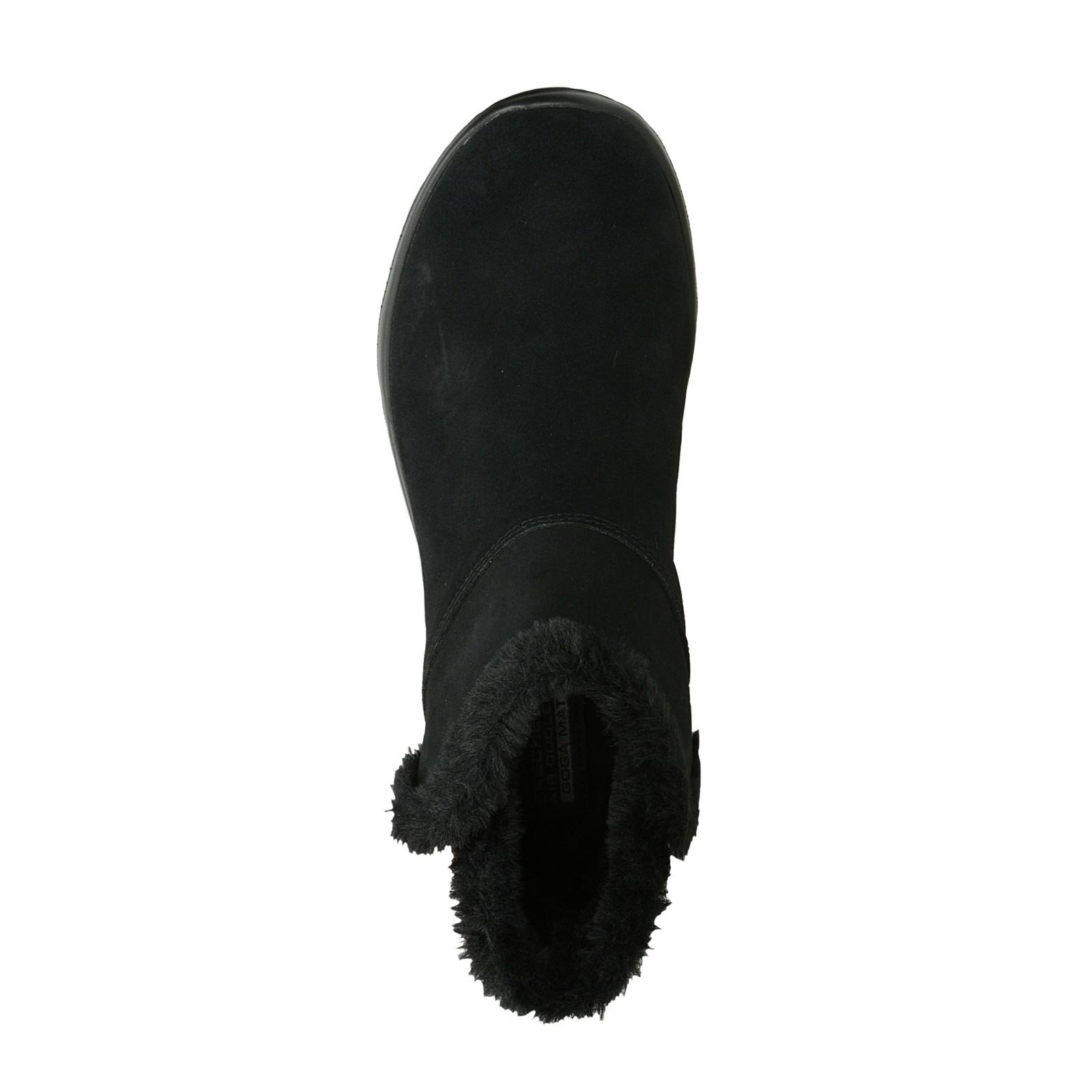 Skechers dámske semišové kotníky - čierne