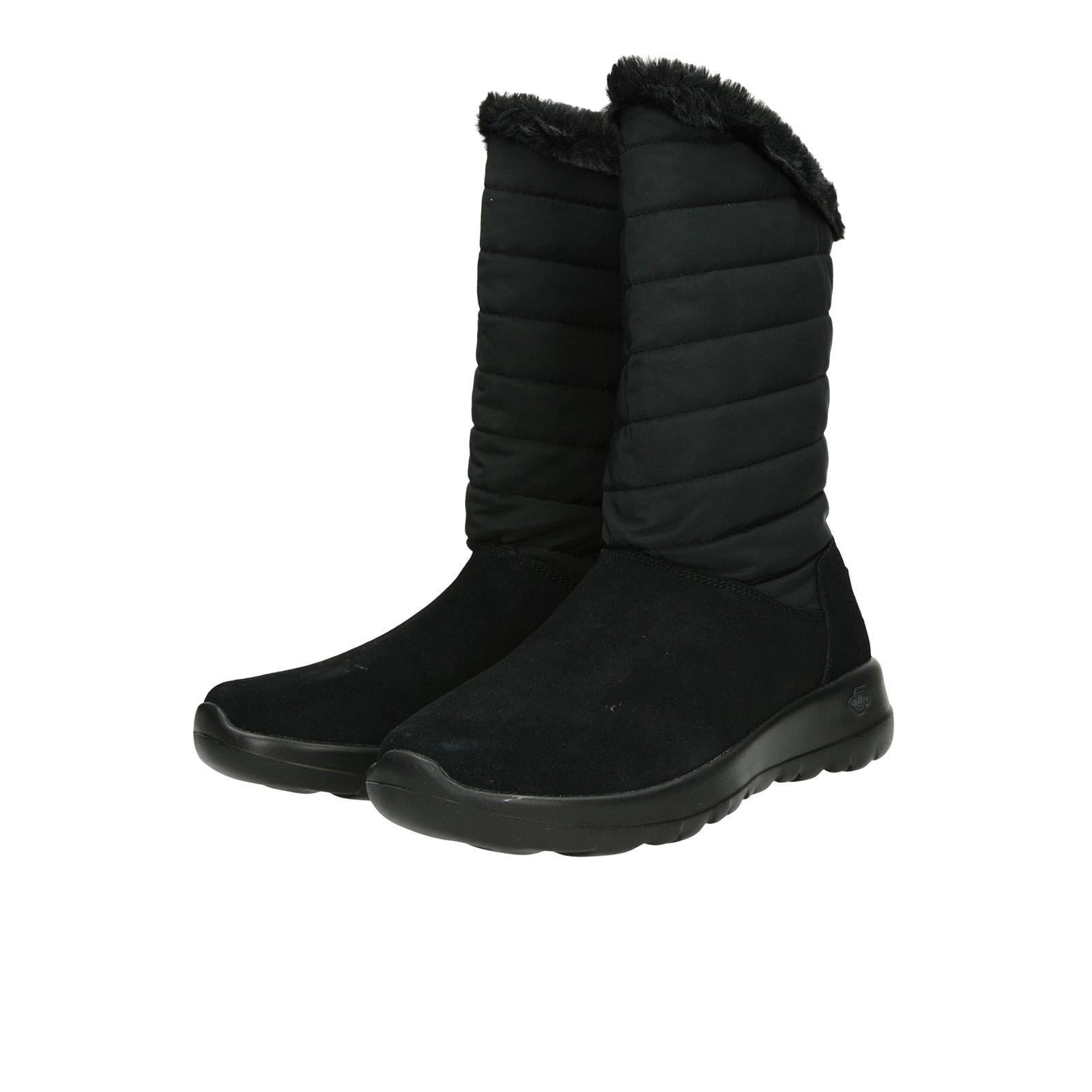 ... Skechers dámske nízke zateplené čižmy - čierne ... 457d6d2ef74