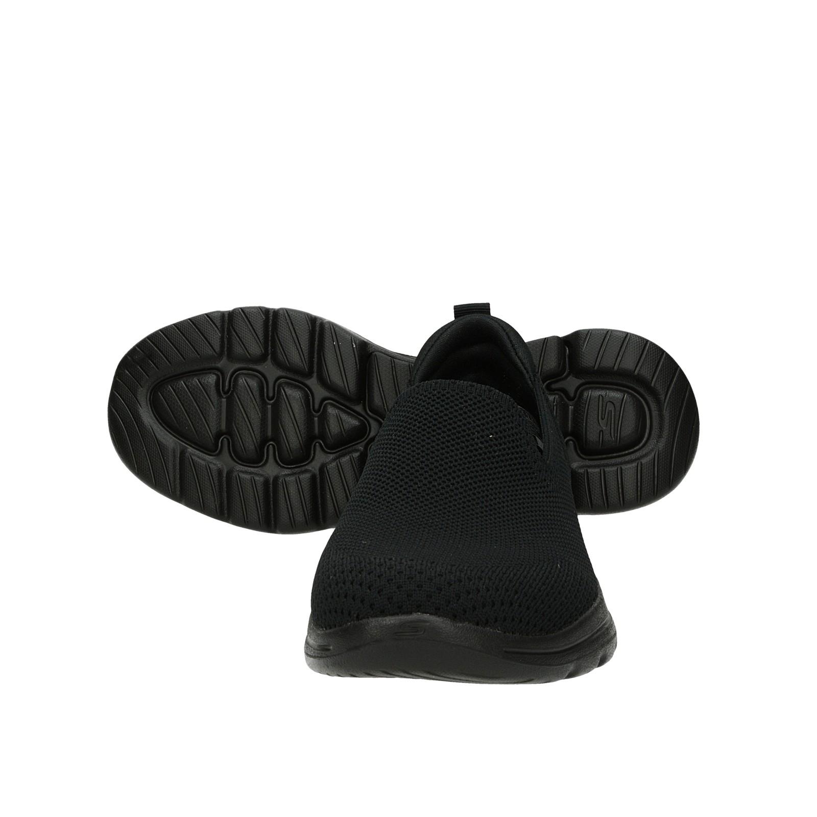 Skechers dámske pohodlné tenisky bez šnúrovania - čierne