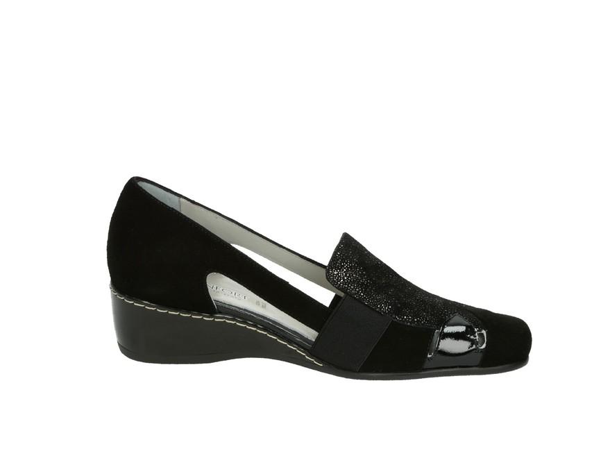 Confort SPA dámske poltopánky - čierne