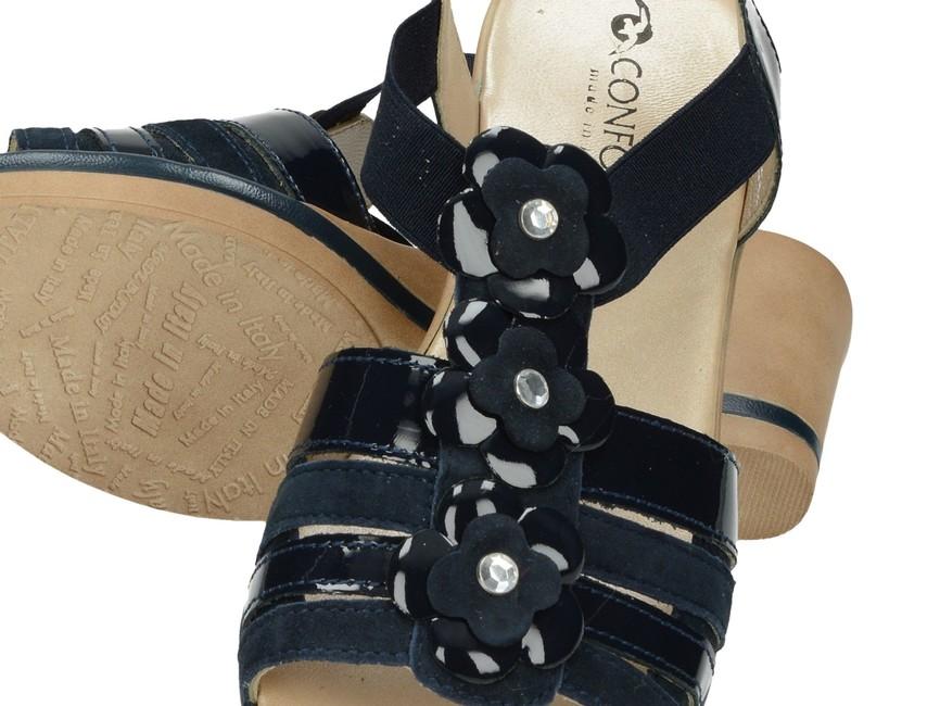 Confort SPA dámske sandále - tmavomodré