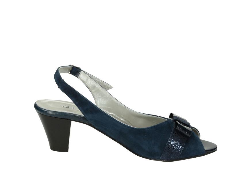 Confort SPA dámske sandále na podpätku - modré