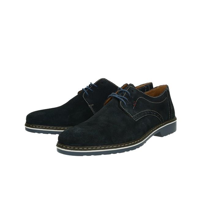 6b78b9b5bf2f ... Rieker pánske semišové topánky - modré ...
