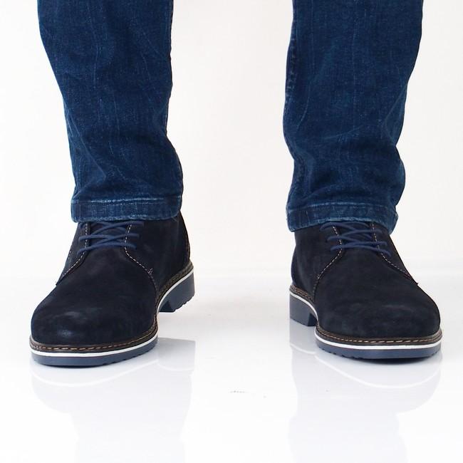 b32c86af382d Rieker pánske semišové topánky - modré ...