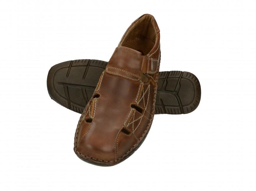 a1bfe8d87e75 Sandále. Girza pánske vychádzkové poltopánky - hnedé ...