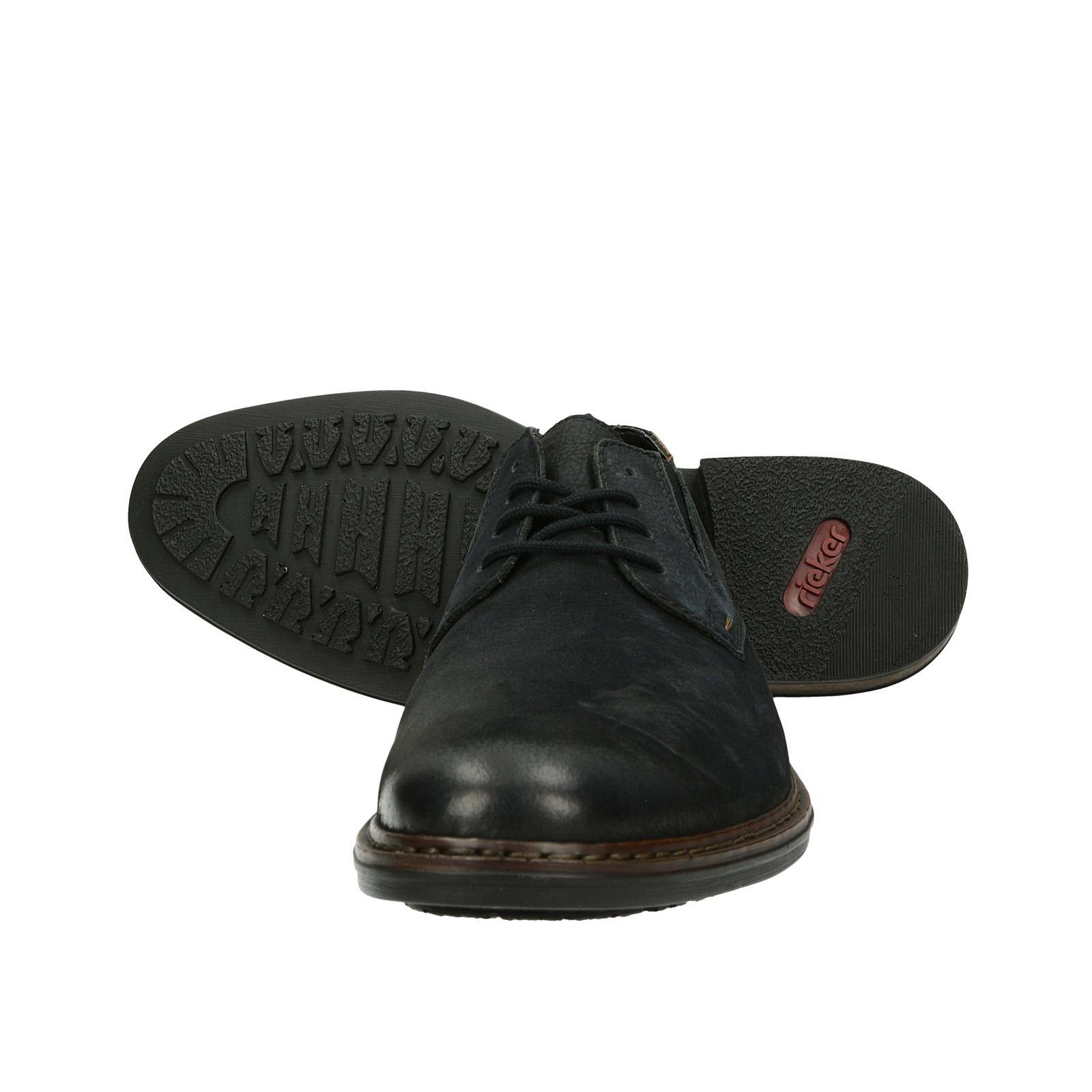 Rieker pánske nubukové spoločenské topánky - čierne