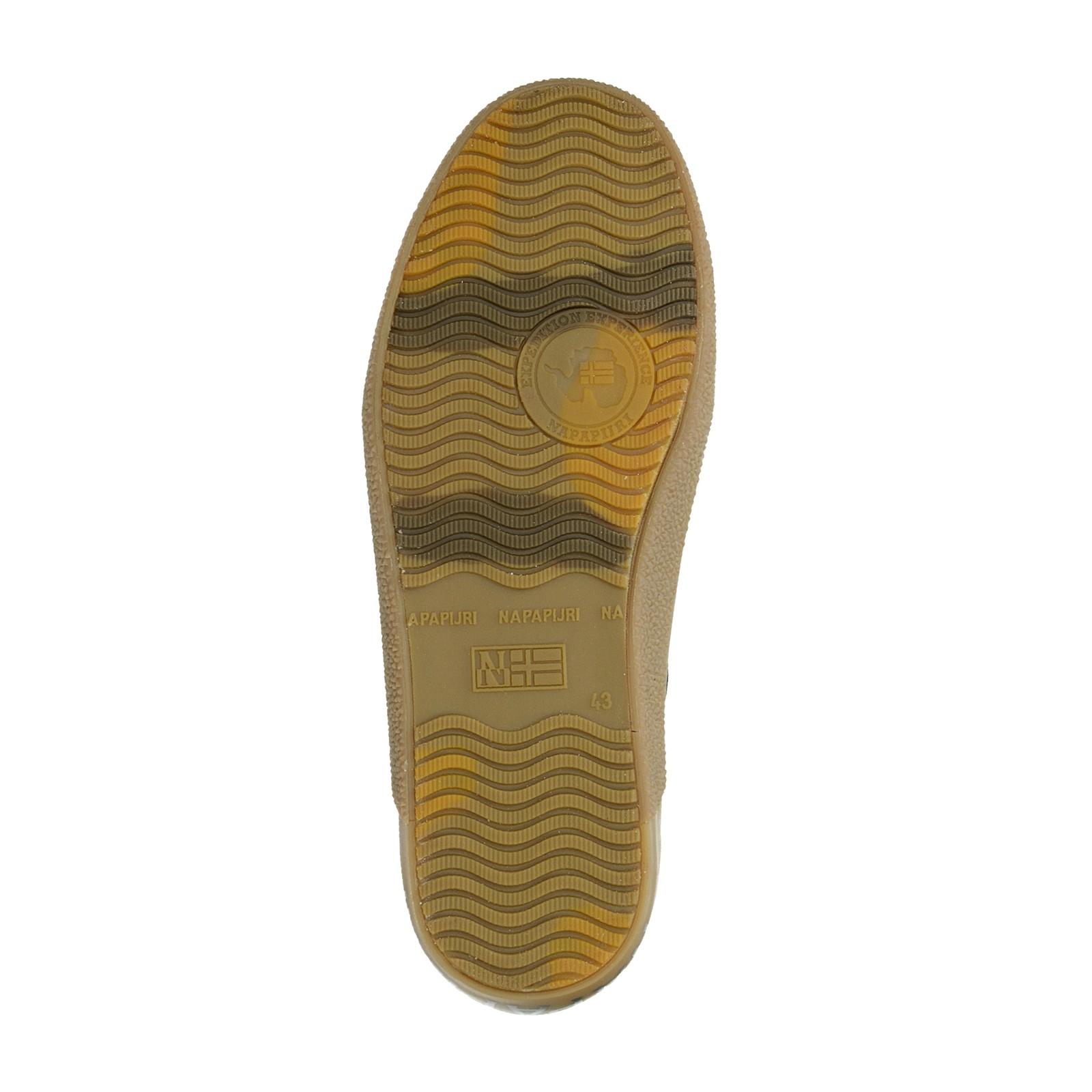 Napapijri pánske kožené tenisky - hnedé
