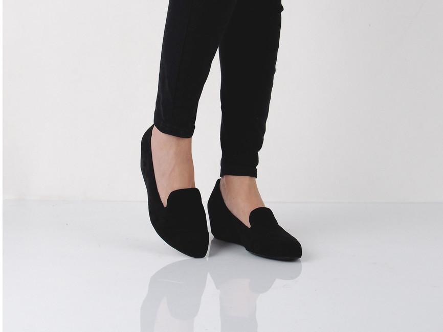 Högl dámske balerínky - čierne