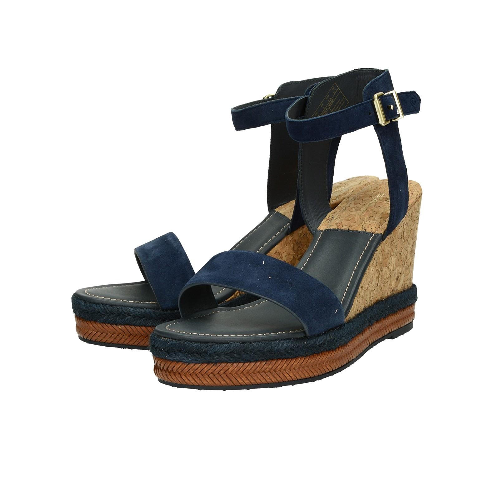 Gant dámske štýlové sandále na klinovej podrážke - tmavomodré