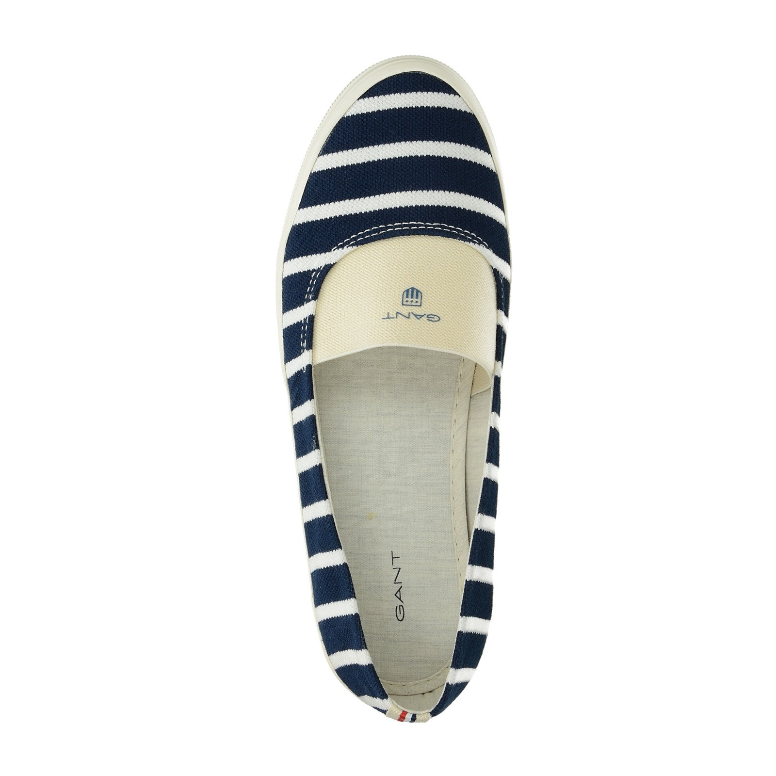 Gant dámske pohodlné balerínky s pásikavým vzorom - modré