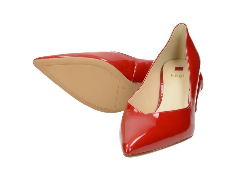 ... Högl dámske lodičky - červené ... 1fff7066bd